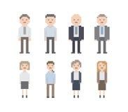 Pixel-Büro-Leute-Satz Stock Abbildung