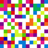 Pixel background in 8-bit style, digital seamless pattern, vecto Royalty Free Stock Images