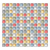 Pixel background of colored cubes. Vector pixel art background of colored cubes for kids Royalty Free Stock Photos