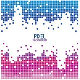 Pixel background design red and blue over white. Vector illustration Royalty Free Stock Images