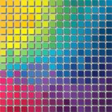 Pixel background - little squares with shadow - full color spectrum rainbow colored. Pixel graphics background - little squares with shadow - full color spectrum stock illustration