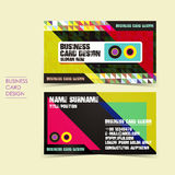 Pixel background vector business card set Royalty Free Stock Images