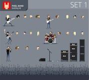 Pixel band Stock Image