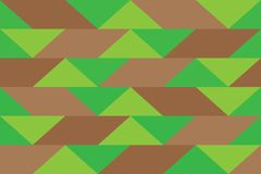 Pixel banner triangle abstract background color pattern gradations. Green, brown, chocolate stock illustration