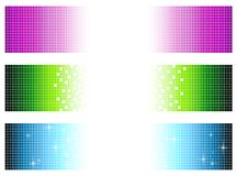 Pixel banners Royalty Free Stock Photo