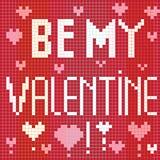Pixel be my valentine Royalty Free Stock Image