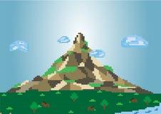 Pixel-berg-achtergrond Stock Afbeeldingen