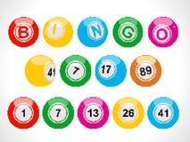 Pixel bingo balls Stock Photography