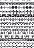 Pixel borders,  Royalty Free Stock Photos