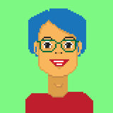 Pixel boy avatar Royalty Free Stock Images