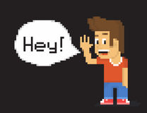 Pixel boy Stock Image