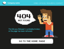 Pixel boy 404 error Royalty Free Stock Image