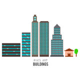 Pixel Buildings Stock Photography