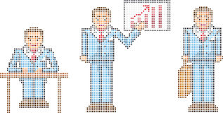 Pixel businessman Royalty Free Stock Photos