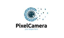 Pixel Camera Logo Stock Image