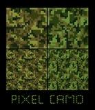 Pixel camo großer Satz nahtlosen Musters Grün, Wald, Dschungel, städtisch, Brauntarnungen Lizenzfreie Stockfotos