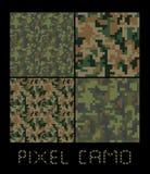 Pixel camo großer Satz nahtlosen Musters Grün, Wald, Dschungel, städtisch, Brauntarnungen Lizenzfreies Stockbild
