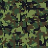Pixel camo. Seamless camouflage pattern. Military camouflage texture royalty free illustration