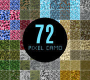 Pixel camo seamless pattern Big set.  Royalty Free Stock Photos
