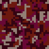 Pixel camo seamless pattern. Fashion pink trendy camouflage for game industry Royalty Free Stock Images