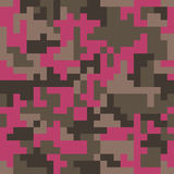 Pixel camo seamless pattern. Fashion pink trendy camouflage for game industry Royalty Free Stock Photos