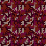 Pixel camo seamless pattern. Fashion pink trendy camouflage for game industry Stock Image