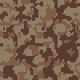 Pixel camo seamless pattern, forest, jungle, urban, brown Military camouflages royalty free illustration