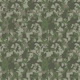Pixel camo seamless pattern. Green, forest, jungle, urban, brown camouflages. vector illustration