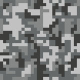 Pixel camo seamless pattern. Grey urban camouflage. Vector fabric textile print design Royalty Free Stock Image
