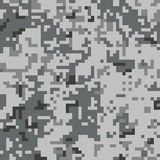 Pixel camo seamless pattern. Grey urban camouflage. Stock Photos
