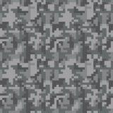 Pixel camo seamless pattern. Grey urban camouflage. Stock Photo