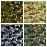 Pixel Camouflage Patterns Royalty Free Stock Photography