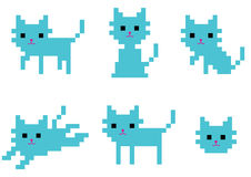 Pixel catty Royalty Free Stock Image