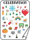 Pixel celebrations Royalty Free Stock Photography