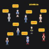 Pixel character Royalty Free Stock Photography