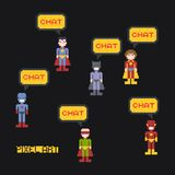 Pixel character Royalty Free Stock Photo