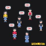 Pixel character Royalty Free Stock Images