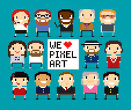 Pixel Characters Royalty Free Stock Images