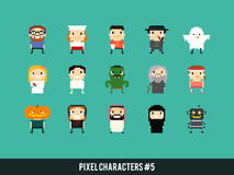 Pixel Characters Royalty Free Stock Photography