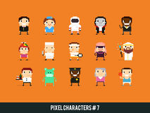 Pixel Characters Royalty Free Stock Photos