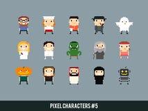Pixel-Charaktere Stockbild