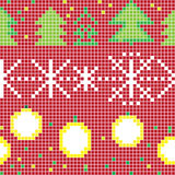 Pixel christmas pattern Royalty Free Stock Photography