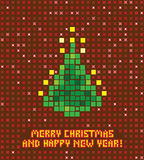 Pixel christmas tree Stock Photos
