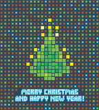 Pixel christmas tree Stock Photography
