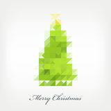 Pixel christmas tree Royalty Free Stock Photo