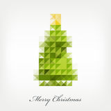 Pixel christmas tree Stock Images