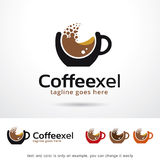 Pixel Coffee Logo Template Design Vector Royalty Free Stock Images