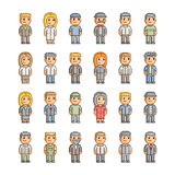 Pixel collection of smiling people Royalty Free Stock Photos