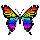Pixel colorful butterfly  vector. Pixel colorful butterfly high detailed  vector Stock Photography