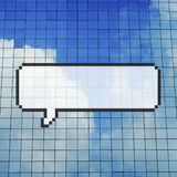 Pixel Concep d'annonce de télécommunication spatiale de copie de bulle de la parole illustration stock